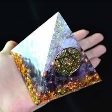 AURA REIKI <b>Orgonite</b> Aogen <b>Natural Crystal</b> Energy Pyramid ...