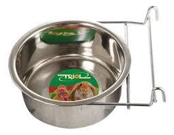 Купить одинарная миска для грызунов и птиц Triol, сталь ...