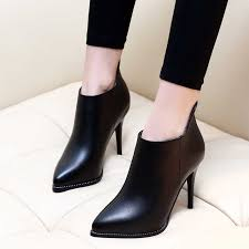 New <b>Women</b> High Heels Ankle <b>Boots Genuine Leather</b> Shoes Warm ...