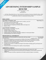 resume resume examples and resume templates on pinterest advertising internship resume template sample resume for an internship