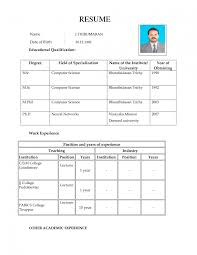 attractive resume format for freshers resume template bsc fresher resume template volumetrics co cv resume format for freshers in