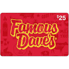 Famous Dave's $25 Gift Card - Sam's Club