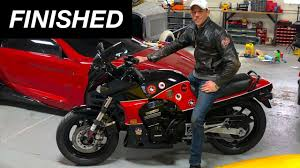 FINISHED <b>Top Gun motorcycle</b> build! Kawasaki GPZ900 - YouTube