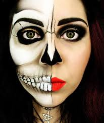 half woman half corpse makeup this is a good theme when you want