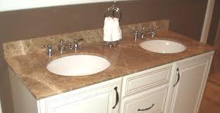 reddish brown corner bathroom vanity wooden