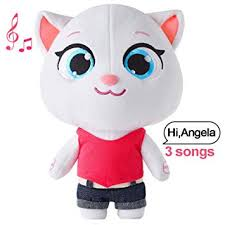 Talking Tom Cat Plush Toy Angela Repeats What You ... - Amazon.com