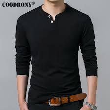 T-Shirt Men <b>2018 Spring</b> Autumn <b>New Long</b> Sleeve Henry Collar