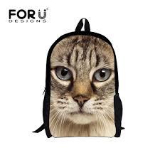 <b>FORUDESIGNS</b> Cute Animal Cat Printing Children <b>School</b> Bags ...