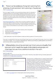 teaching and learning policy teachertoolkit learning policy qkynaston quintin kynaston
