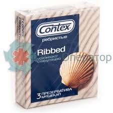 КОНТЕКС <b>ПРЕЗЕРВАТИВ RIBBED РЕБРИСТЫЕ</b> №3 [<b>CONTEX</b> ...