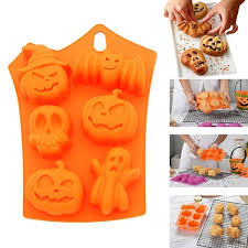 Muffin Pans Non Stick <b>Halloween Silicone Cake</b> Baking Molds ...