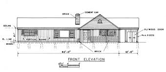 Free Bedroom Ranch House Plans   CarportSimple Ranch House Plan