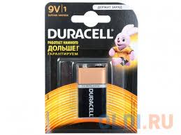 <b>Батарейка DURACELL</b> 6LR61 (<b>6LF22</b>) <b>MN</b> BP1 9В 1шт. (крона ...