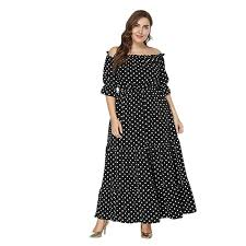 Meijunter <b>Women</b> Plus Size Strapless Shoulder <b>Dresses</b> - Short ...