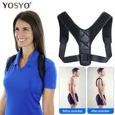 YOSYO Brace Support Belt <b>Adjustable Back Posture</b> Corrector ...