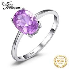 <b>JewelryPalace</b> Trillion 1.1ct <b>Natural</b> Purple Amethyst Birthstone ...