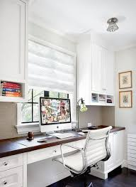light bright space with lots of counter space and lots of storage traditional home brightly colored offices central st