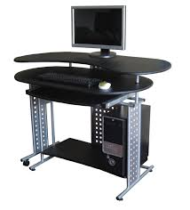 breathtaking design ideas of cheap modern computer desk with black color table top and keyboard shelves charming design small tables office