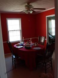 red dining room color