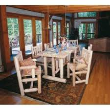 rustic natural cedar furniture co harvest family dining room set dreamz bathroom dollhouse