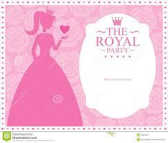 princess template card design stock vector image 45539051 princess template card design