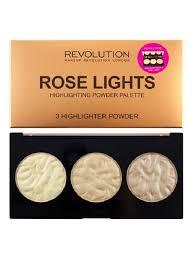 <b>Палетка хайлайтеров Highlighter Palette</b> Rose Lights Revolution ...