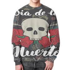 Свитшот мужской с полной запечаткой <b>Día</b> de Muertos #2319501 ...