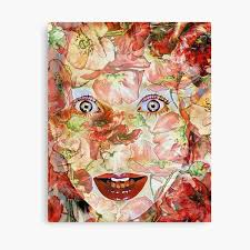 """""""<b>Tori Amos Under</b> The Pink Inspired Watercolor"""" Canvas Print by ..."""