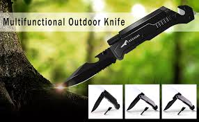 Freehawk <b>Multifunctional</b> Survival Tactical <b>Knife Portable</b> Outdoor ...