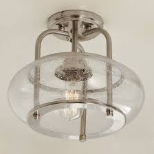 vintage ceiling lighting. Seeded Glass Vintage SemiFlush Ceiling Light Small Lighting P