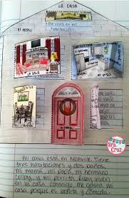 best ideas about spanish sentences learning la casa spanish interactive notebook activity students label the rooms and furniture write sentences