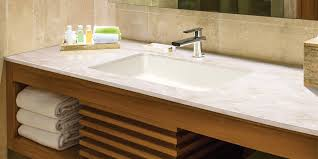 solid surface integral double sink bathroom