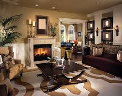 living room design ideas in brown and beige comfortable living room fireplace sofa armchair brown living room furniture ideas