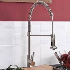 designer kitchen sink mixer tap brushed steel
