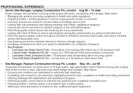 construction manager cv samples construction manager cv sample site manager cv sample