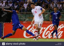 serbia s nikola eigic c fights for the ball edder serbia s nikola eigic c fights for the ball edder delgado l and mauricio sabillon during their friendly soccer match in san pedro sula