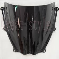 New <b>motorcycle motorbike Windshield Windscreen Black</b> For Suzuki ...