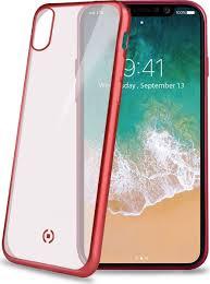 <b>Чехол Celly Laser</b> Matt для Apple iPhone X,прозрачный, красный ...