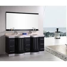 element contemporary bathroom vanity set: design element supreme  inch espresso double sink bathroom vanity with mirror
