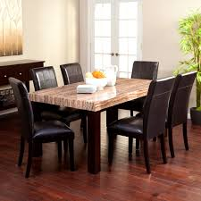 Granite Dining Room Tables Furniture Alluring Dining Room Table Sets Oval Set Oak Marble
