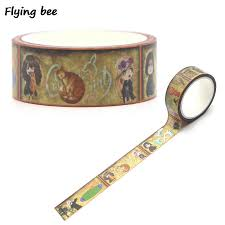 <b>Flyingbee 15mmX5m</b> Paper Tapes Handmade DIY Decorative ...