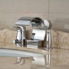 widespread pull bathroom sink faucet chrome polished brass waterfall spout bathroom sink faucet pull out ha