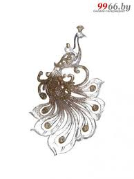 <b>Украшение Crystal Deco Павлин</b> 12cm Transparent-Rose Gold ...