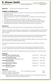 Sample Chronological Resume Enviornmental Studies Resume Templat       sample resume for administrative assistant happytom co