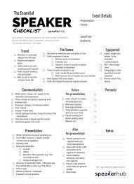 the essential speaker checklist speakerhub the essential speaker checklist