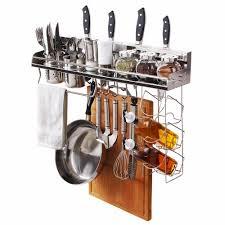 wall mounted pan rack