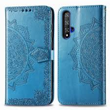 Huawei Nova 5T <b>Embossing</b> Flip PU Leather Wallet <b>Phone</b> Case ...