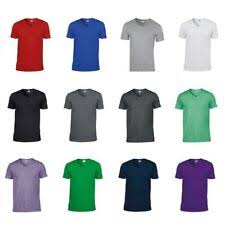 <b>Gildan</b> V-Neck T-Shirts for <b>Men</b> | eBay