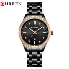 CURREN Brand Fashion Luxury <b>Rhinestone</b> Watch <b>Ladies Quartz</b> ...