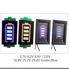 <b>Lithium Battery Capacity Indicator</b> Module LED Display with case ...